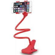 Универсальный гибкий держатель-прищепка для телефона (Красный)