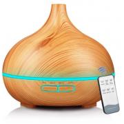 Увлажнитель воздуха аромадиффузор луковица для дома с пультом управления (Светлое дерево)
