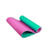 Коврик высокой плотности для йоги и фитнеса 8mm 180x60cm (Розово-зеленый)