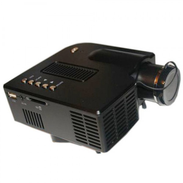 Портативный мультимедийный мини-проектор LED проектор LZ-30H (черный)