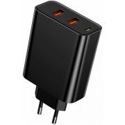 Сетевое зарядное устройство Baseus PPS three output quick charger 60W EU CCFS-G01 (Черный)