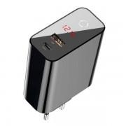 Сетевое зарядное устройство Baseus SpeedPPSIntelligentPower-off&DigitalDisplayQuickChargerPD3.0+QC3.045W EU CCFSEU907-01 (Черный)