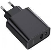 Сетевое зарядное устройство Baseus Speed PPS Quick charger C+U 30W EU CCFS-C01 (Черный)