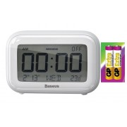 Настольные часы Baseus Subai Clock With extra AAA battery ACLK-A02 (Белый)
