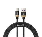 Кабель Baseus Purple Gold Red HW flash charge cable USB For Type-C 40W 2m Gold CATZH-BV1 (Черно-золотистый)