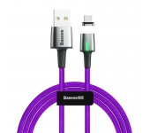 Магнитный кабель Baseus Zinc Magnetic Cable USB For Type-C 3A 1m CATXC-A05 (Фиолетовый)