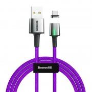 Магнитный кабель Baseus Zinc Magnetic Cable USB For Type-C 3A 1m CATXC-A05 (Фиолетовый)