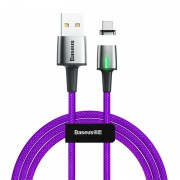 Магнитный кабель Baseus Zinc Magnetic Cable USB For Type-C 2A 2m CATXC-B05 (Фиолетовый)