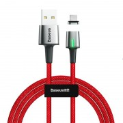 Магнитный кабель Baseus Zinc Magnetic Cable USB For Type-C 2A 2m CATXC-B09 (Красный)