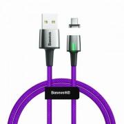 Магнитный кабель Baseus Zinc Magnetic Cable USB For Micro 2.4A 1m CAMXC-A05 (Фиолетовый)