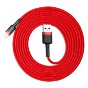 Кабель Baseus cafule Cable USB For lightning 1.5A 2M CALKLF-C09 (Красно-красный)