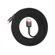 Кабель Baseus cafule Cable USB For lightning 1.5A 2M CALKLF-C19 (Красно-черный)