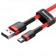 Кабель Baseus cafule Cable USB For Micro 2.4A 0.5M CAMKLF-A09 (Красно-красный)