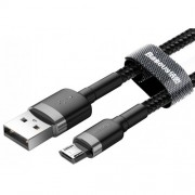 Кабель Baseus cafule Cable USB For Micro 2.4A 0.5M CAMKLF-AG1 (Серо-черный)