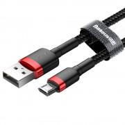 Кабель Baseus cafule Cable USB For Micro 1.5A 2M CAMKLF-C91 (Красно-черный)