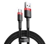 Кабель Baseus cafule Cable USB For Type-C 3A 0.5M CATKLF-A91 (Красно-черный)