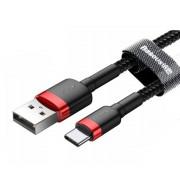 Кабель Baseus cafule Cable USB For Type-C 2A 2M CATKLF-C91 (Красно-черный)