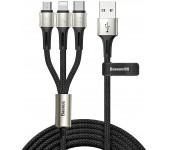 Кабель Baseus caring touch selection 1-in-3 USB cable CAMLT-GH01 (Черный)