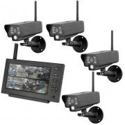 Комплект беспроводного видео-наблюдения с 4 уличными камерами Proline PR-8104JU4