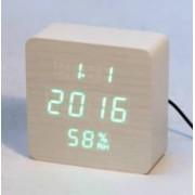 Настольные цифровые часы-будильник VST-872S (белые)