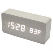 Настольные цифровые часы-будильник VST-865 (белые)