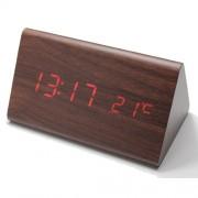 Настольные цифровые часы-будильник VST-861 (коричневый)