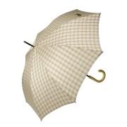 Зонт трость женский в мелкую клетку (Бежевый)