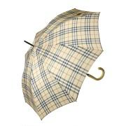 Зонт трость женский в крупную клетку (Бежевый)