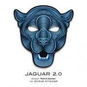 Звуковая светодиодная маска LED Mask jaguar 2.0