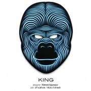 Звуковая светодиодная маска LED Mask King