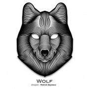 Звуковая светодиодная маска LED Mask Wolf