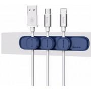 Магнитный держатель для проводов Baseus ACWDJ-03 (Синий)