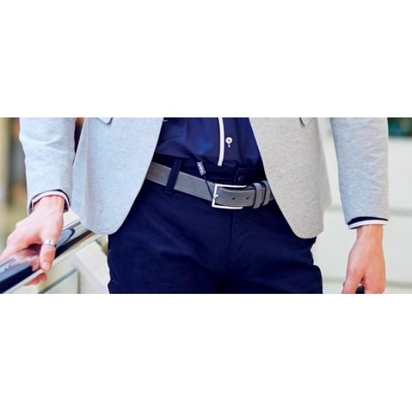 Стильный серый мужской ремень