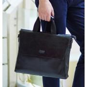 Стильная мужская сумка-портфель коричневая