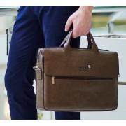 Стильная практичная коричневая мужская сумка