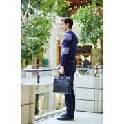 Стильная черная мужская сумка