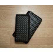 Мужской кошелек портмоне, плетение, натуральная кожа.