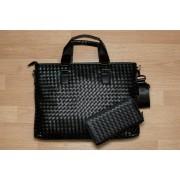 Стильная мужская сумка модель 1 (Темная синяя и коричневая)