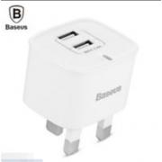 Портативное зарядное устройство Baseus Funzi 2.4A Dual USB Port Smart Fast для Android IOS CCALL-FZ02 (Белый)