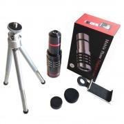 Универсальная линза телескоп для мобильного телефона 18x Aluminum (Черный)