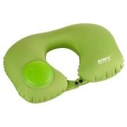 Дорожная надувная подушка для шеи со встроенной помпой Romix RH34 (Зеленый)
