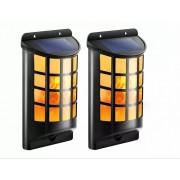 Садовый LED светильник на солнечной батарее фасадный Fire (Черный)