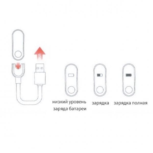 Зарядное устройство для фитнес-браслета Xiaomi Mi Band 2 (Черный)