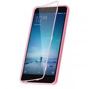 Бампер + защитная крышка для Xiaomi Redmi Note 2 (KEIDI, розовый)