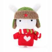 Мягкая игрушка Xiaomi Mi Bunny в свитере 25 см (Красный)