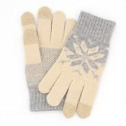 Перчатки для сенсорных экранов (Бежевый)