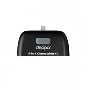 Картридер OTG micro USB (Deppa, черный)