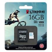Карта памяти Kingston MicroSDHC 16 GB с адаптером