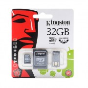 Карта памяти Kingston MicroSDHC 32 GB с адаптером + USB reader