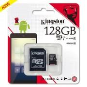 Карта памяти Kingston MicroSDHC 128 GB с адаптером